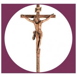 Croix en bronze avec Christ 48cm