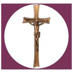 Croix en bronze avec Christ 30cm