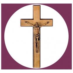 Croix en bronze avec Christ 20cm