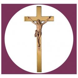 Croix en bronze avec Christ 45cm