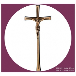 Croix en bronze avec Christ 25 & 30cm