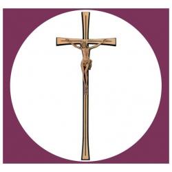 Croix en bronze avec Christ 40cm