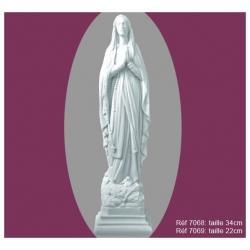 Vierge de Lourdes 22 & 34cm