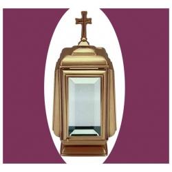 Lanterne avec base et croix 30cm