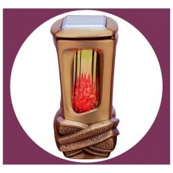 Lanterne avec panneau solaire 22,5cm